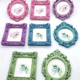 La Licornerie ♥♥ Aimant cadre rectangulaire en béton