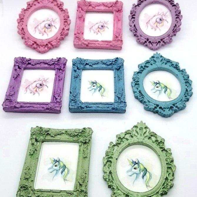 La Licornerie ♥♥ Rectangular Frame Concrete Magnet
