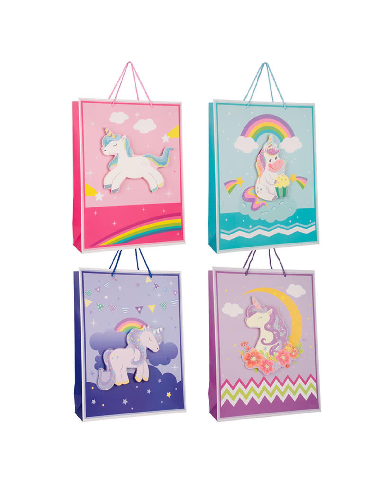 La Licornerie Unicorn Gift Bag 3D effect mellow purple