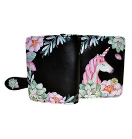 La Licornerie Small Black Unicorn Wallet