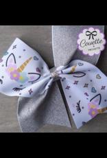 La Licornerie ♥♥ Cheerleading  Vinyl Unicorn Bowtie Hairband