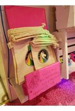 ♥♥Large handmade organic cotton bag