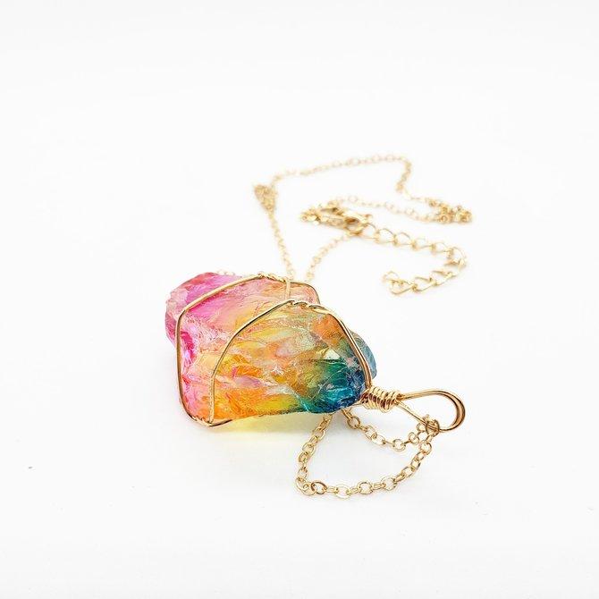 La Licornerie Collier quartz arc-en-ciel étincelant