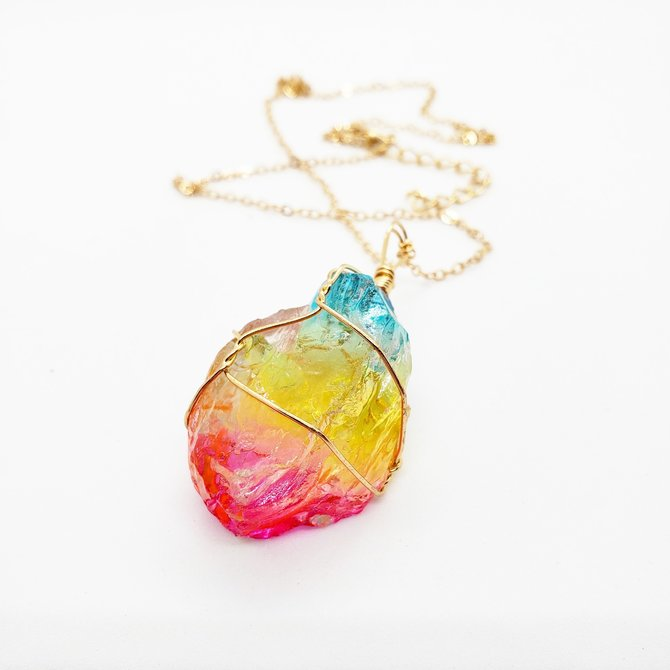 La Licornerie Rainbow Quartz Necklace