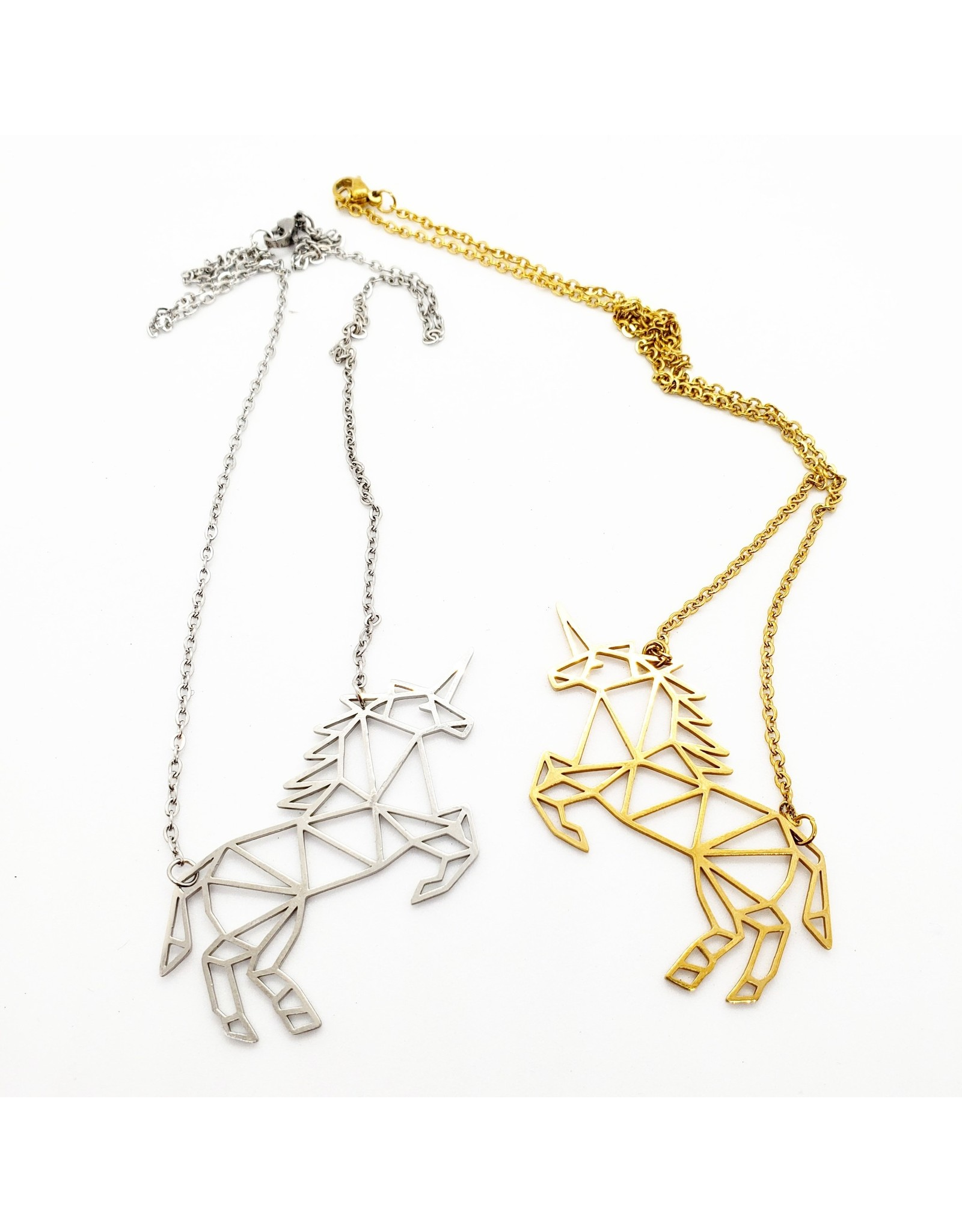 La Licornerie Geometric unicorn necklace