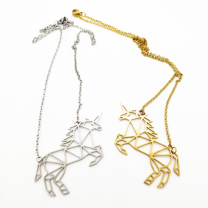 La Licornerie Geometric unicorn necklace