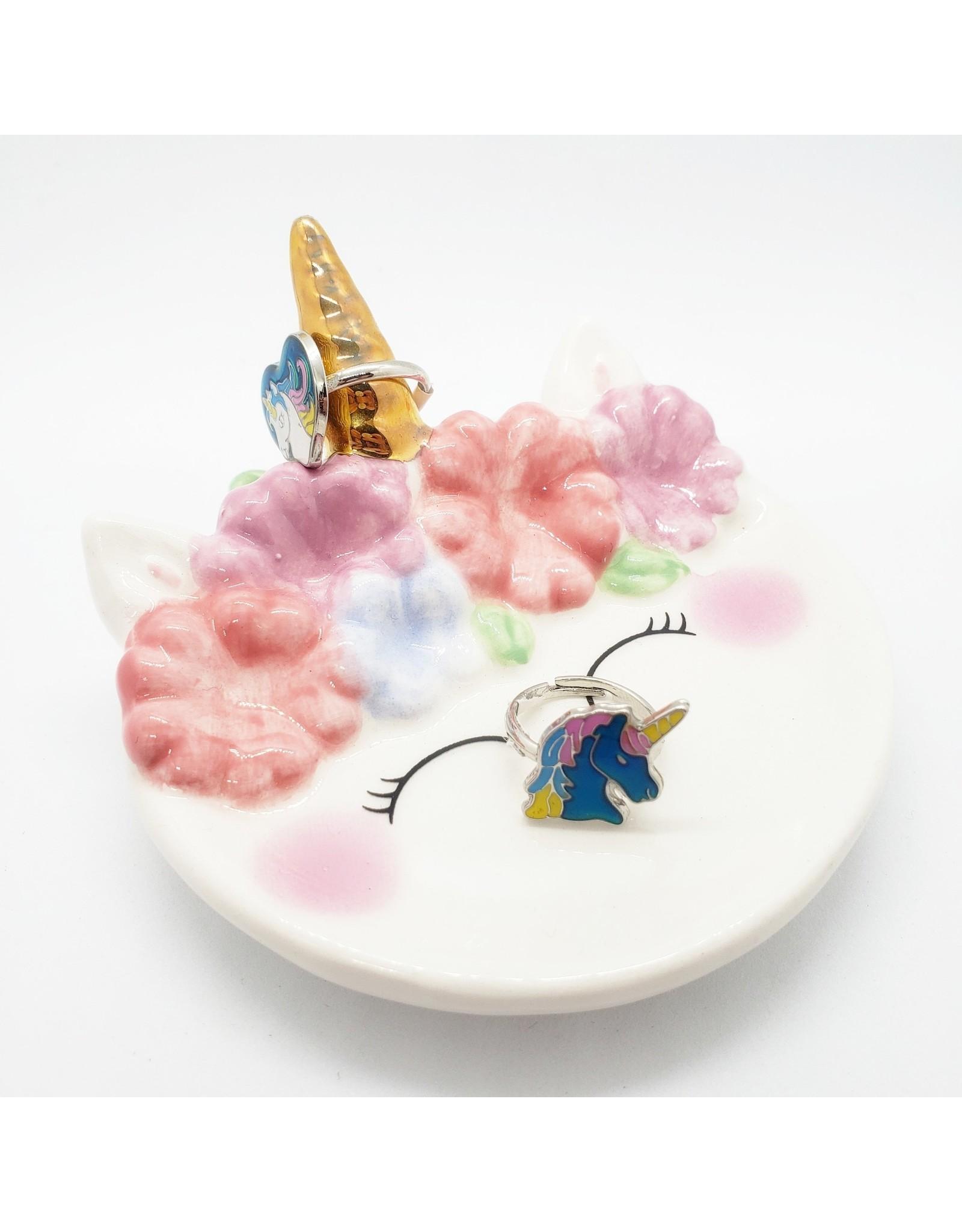 La Licornerie Assiette décorative licorne à fleur