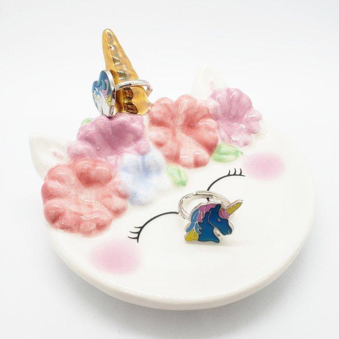La Licornerie Petite assiette à bijoux licorne