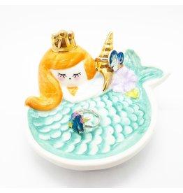 La Licornerie Assiette décorative sirène