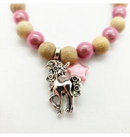 La Licornerie ♥♥ Bracelet 2 tons perles de bois