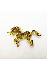 La Licornerie Unicorn Green Crystal Brooch