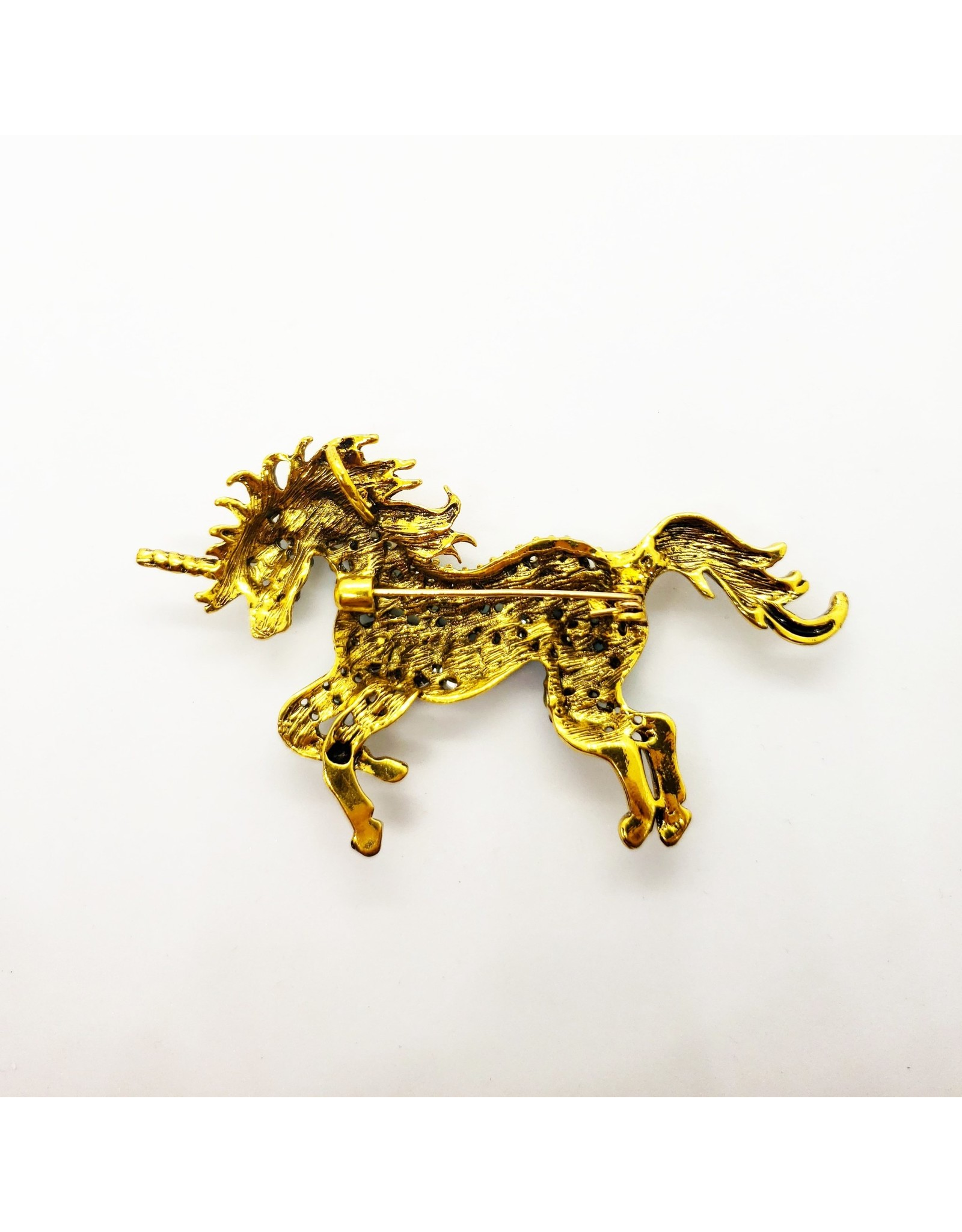 La Licornerie Mellow Crystal Unicorn Brooch