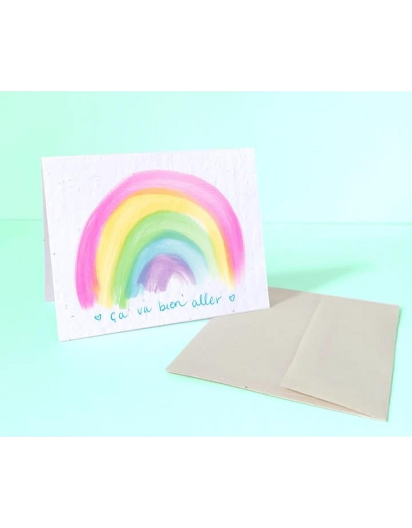♥♥ Ça Va Bien Aller eco-conscious (plantable) Post Card
