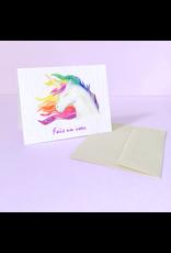 La Licornerie ♥♥ Carte (très) éco-responsable ensemencée Licorne