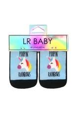 Chaussons pour bébés Pooping Rainbows (0-6 mois)