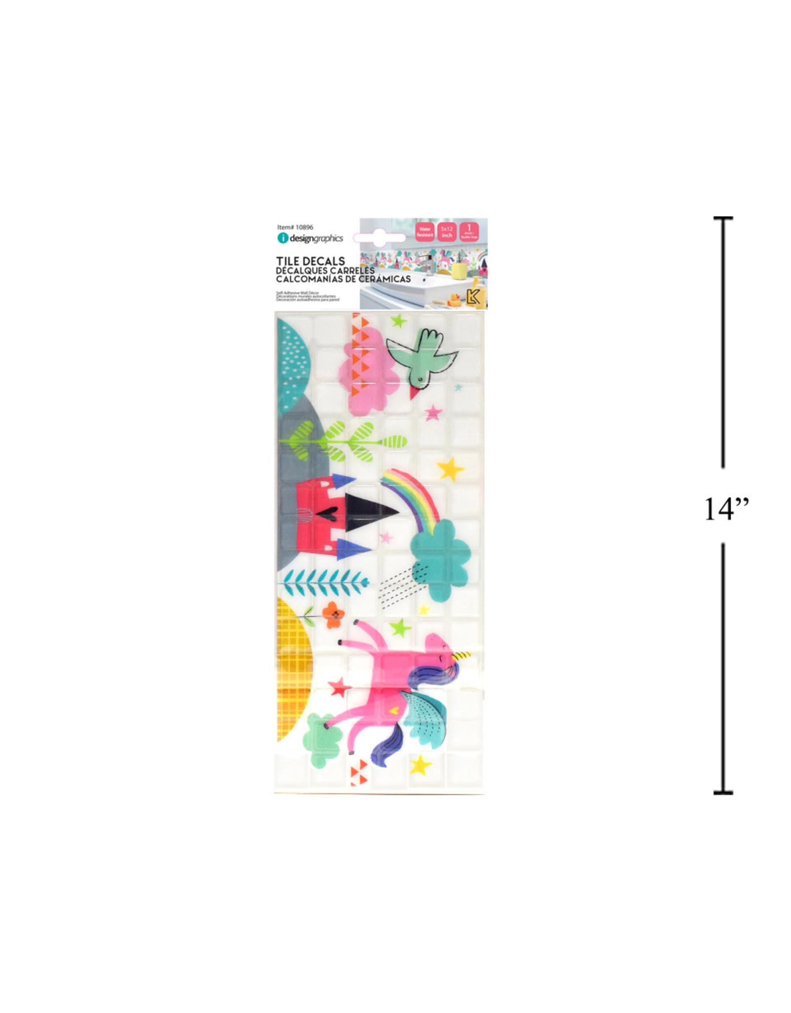 Unicorn Tile Decals