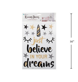 """Just Believe in Your Dreams"" Wall Sticker"