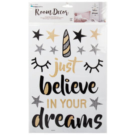 """CTG Auto-collant mural """"Just believe in your dreams"""""""