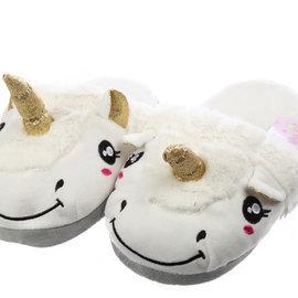 La Licornerie Paire de pantoufles en peluche pour adultes