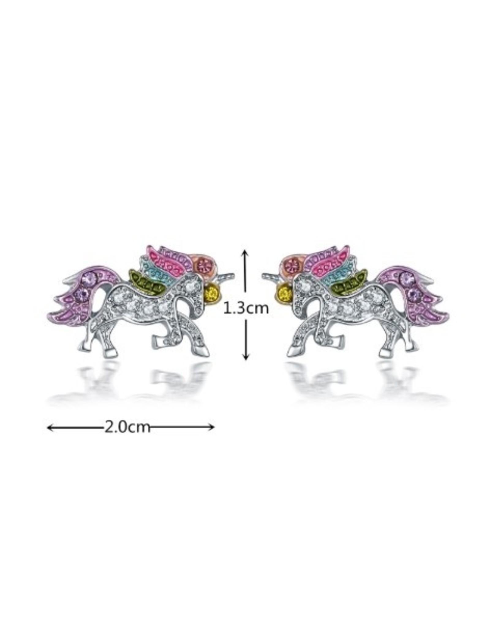 Shiny crystal unicorn earrings