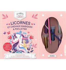 Licornes et chevaux magiques à pailleter