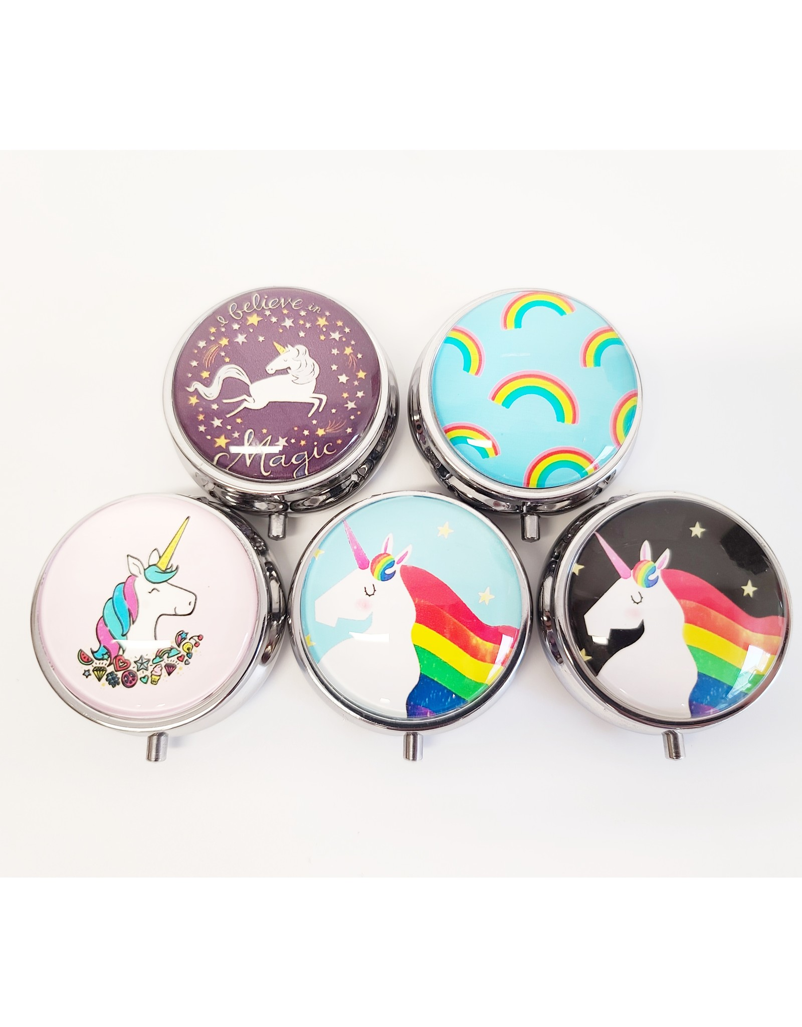 Unicorn Glass Pill Box