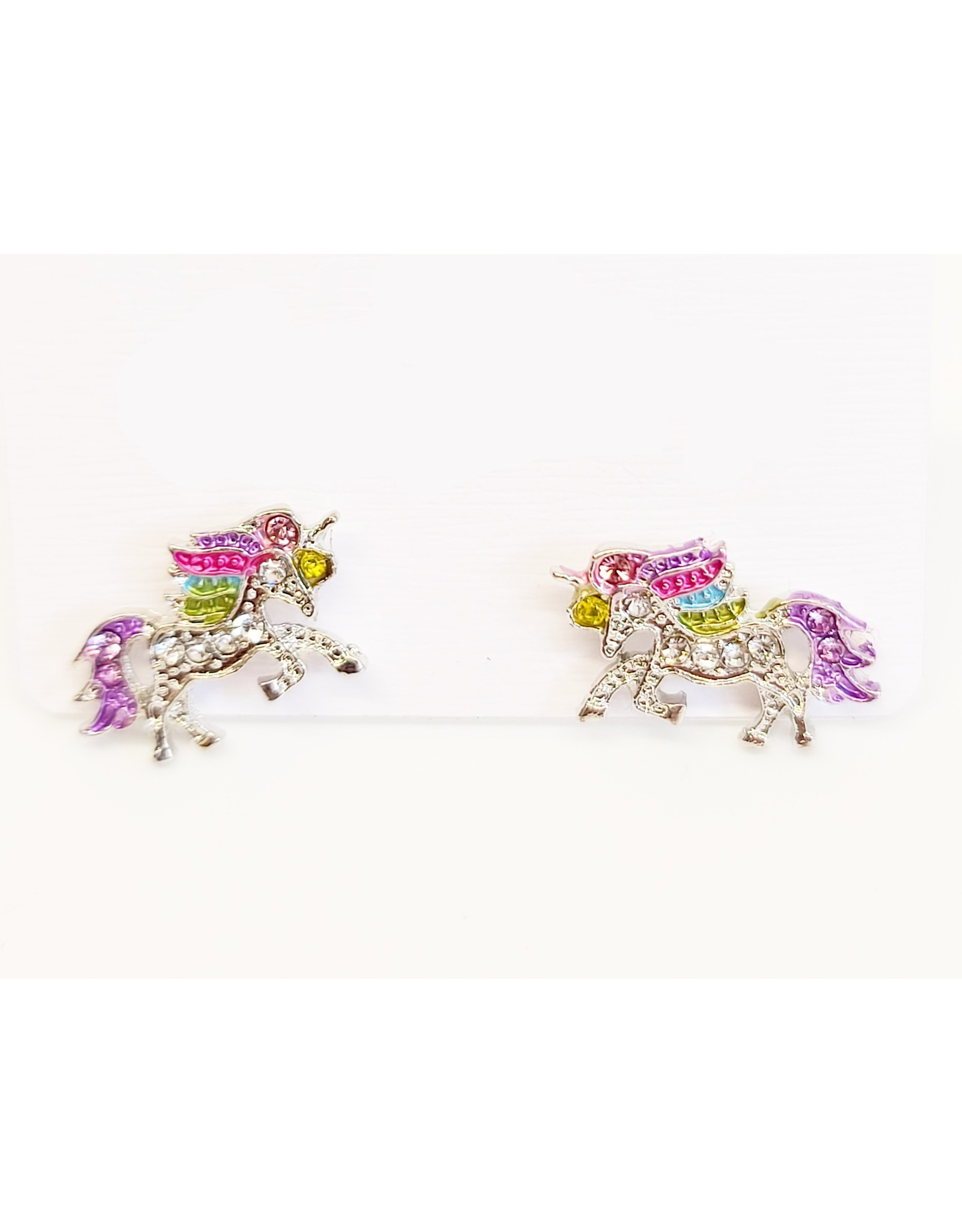 Shiny Crystal Unicorn Earrings