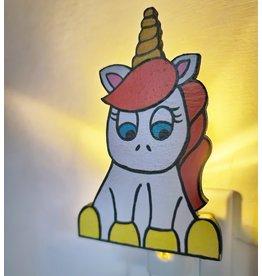 La Licornerie ♥♥ Veilleuse licorne en bois peinte à la main
