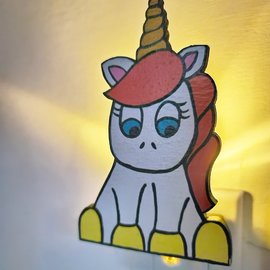 La Licornerie ♥♥ Hand-Painted Unicorn Wooden Night Light