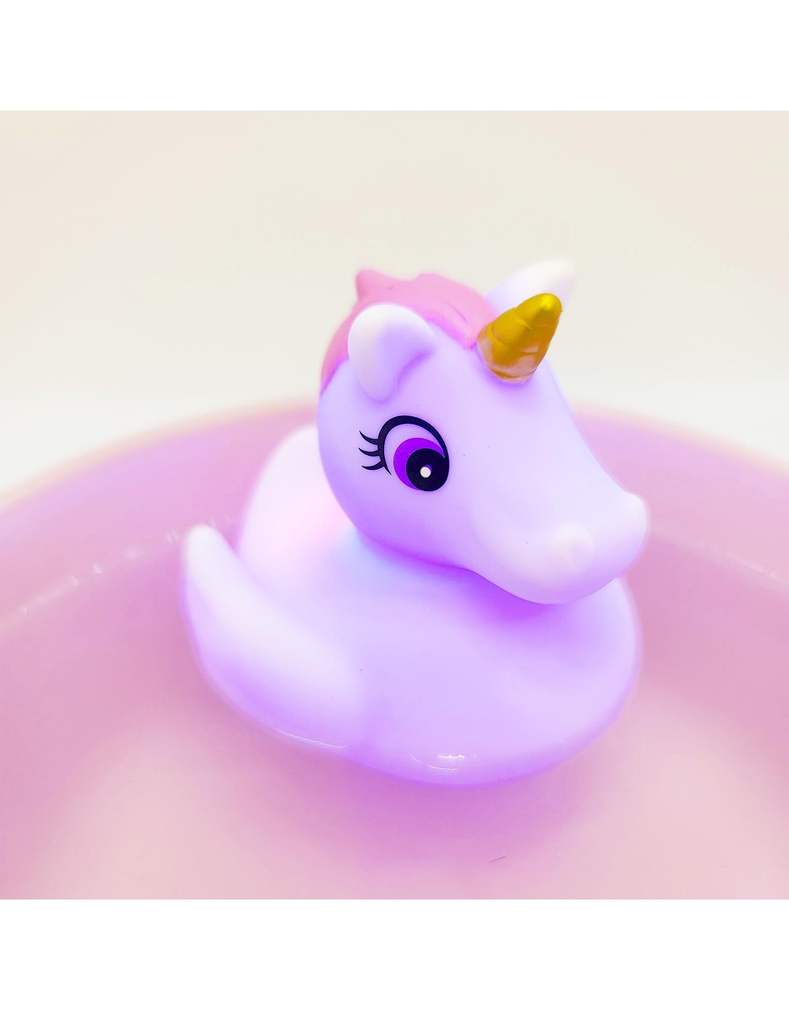 Canard-licorne de bain lumineux