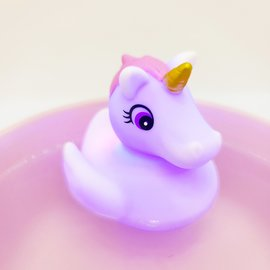 Light-Up Rubber Duck-Unicorn