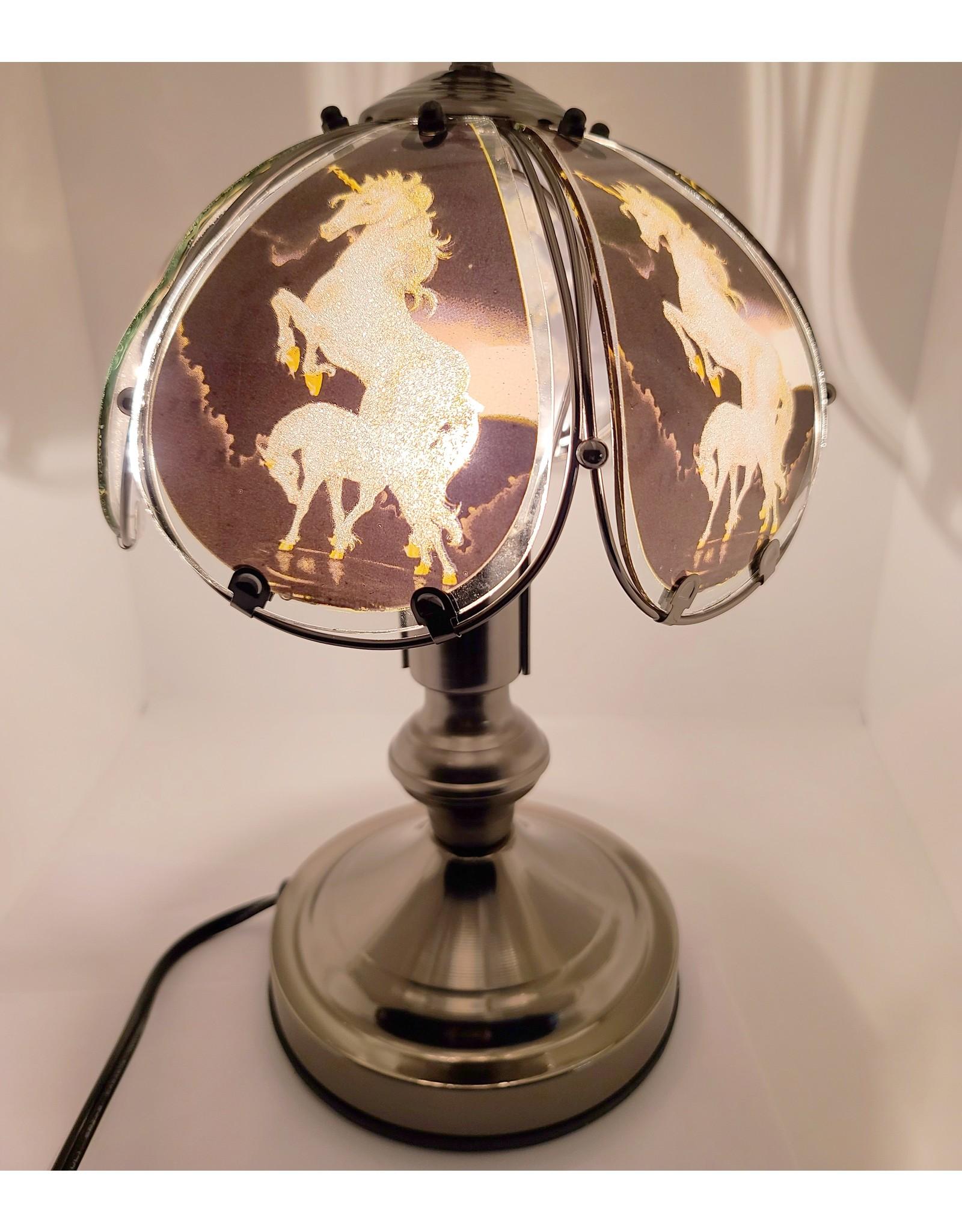 Unicorn Stained Glass Tactile Lamp The Unicornery