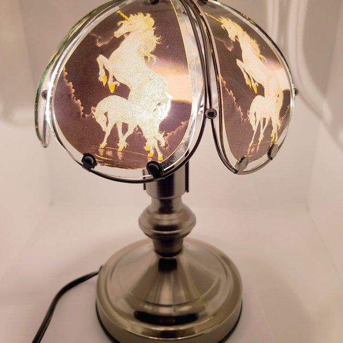 La Licornerie Lampe magique tactile à vitraux brillants