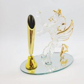 Support à stylo Licorne cristal