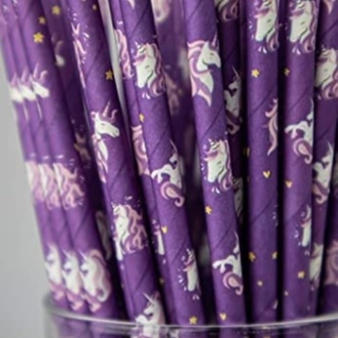La Licornerie Compostable Unicorn Straws (50 straws)