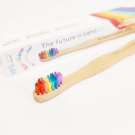 ♥♥ Brosse à dents pour adultes en bambou Arc-en-Ciel