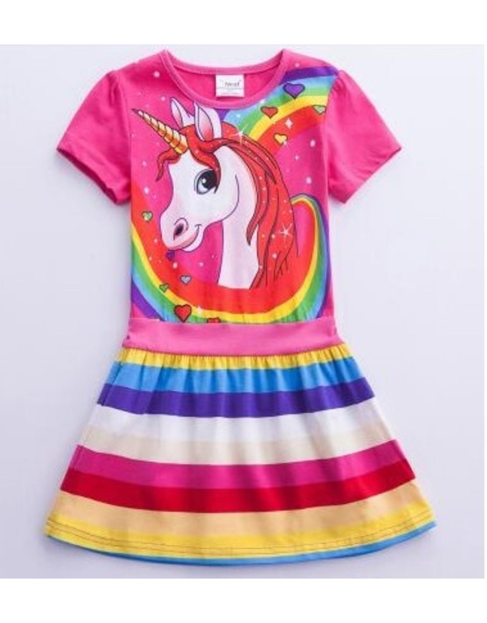 Rainbow Unicorn Dress (6-7 years)