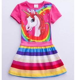 Rainbow Unicorn Dress (6-7 years)