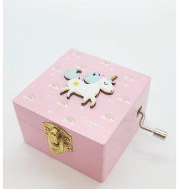 Petite boîte musicale licorne
