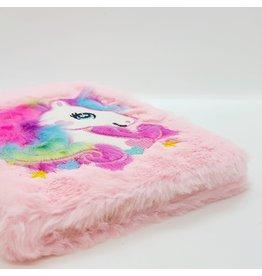 Cahier de notes fluffy rose (ultra doux)