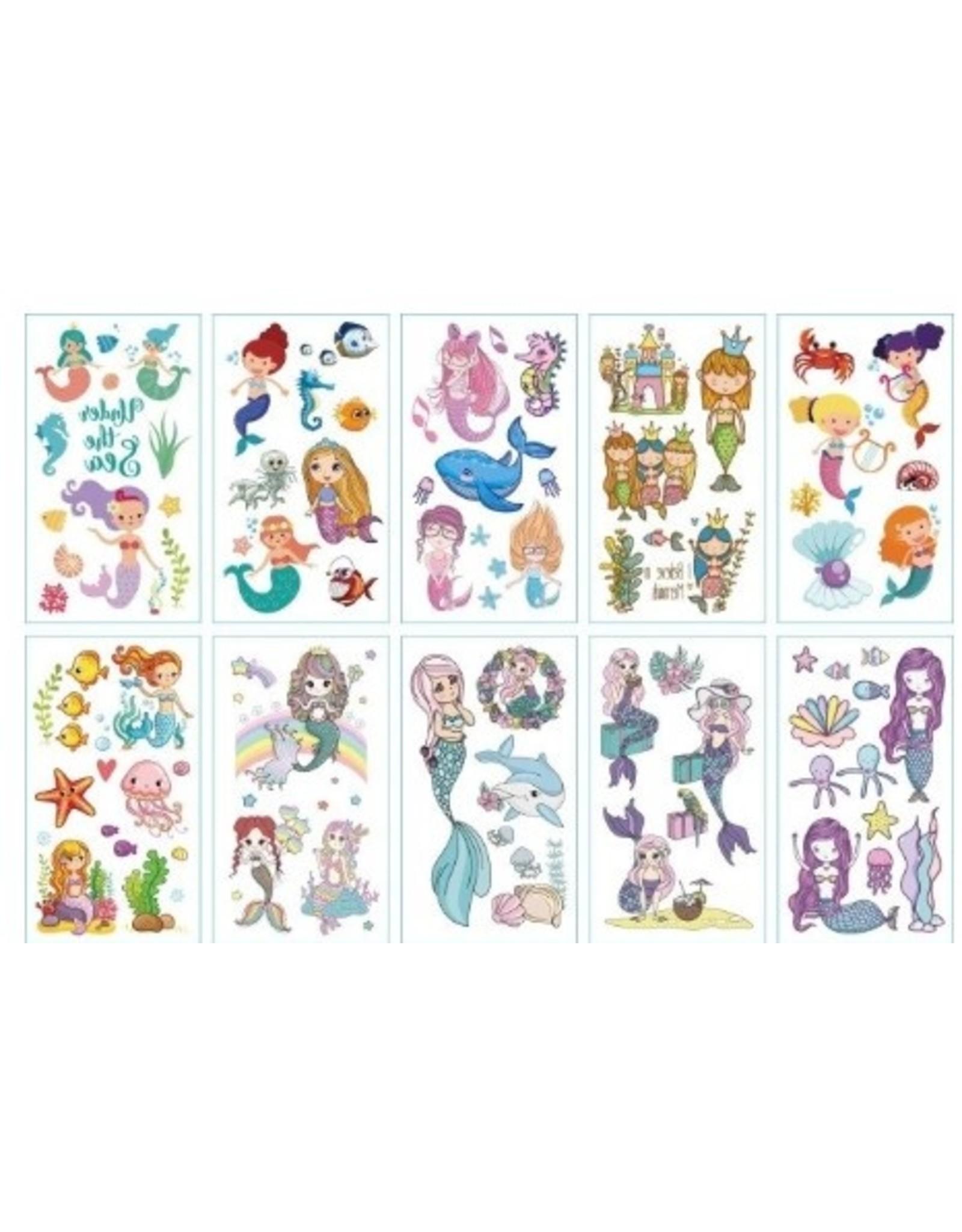 Mermaid Tattoo 1 Sheet