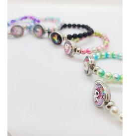 Unicorn Sparkling Pearls Bracelet