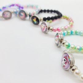 La Licornerie Bracelet perles scintillantes licornesques