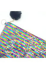 Strass-on Rainbow Pouch