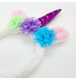 La Licornerie Flowery Bunny Ears/Unicorn Headband