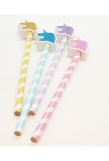 Glitter Unicorn Pencil with Eraser