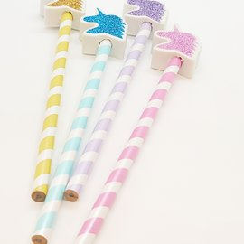 La Licornerie Crayon et efface licorne glitter