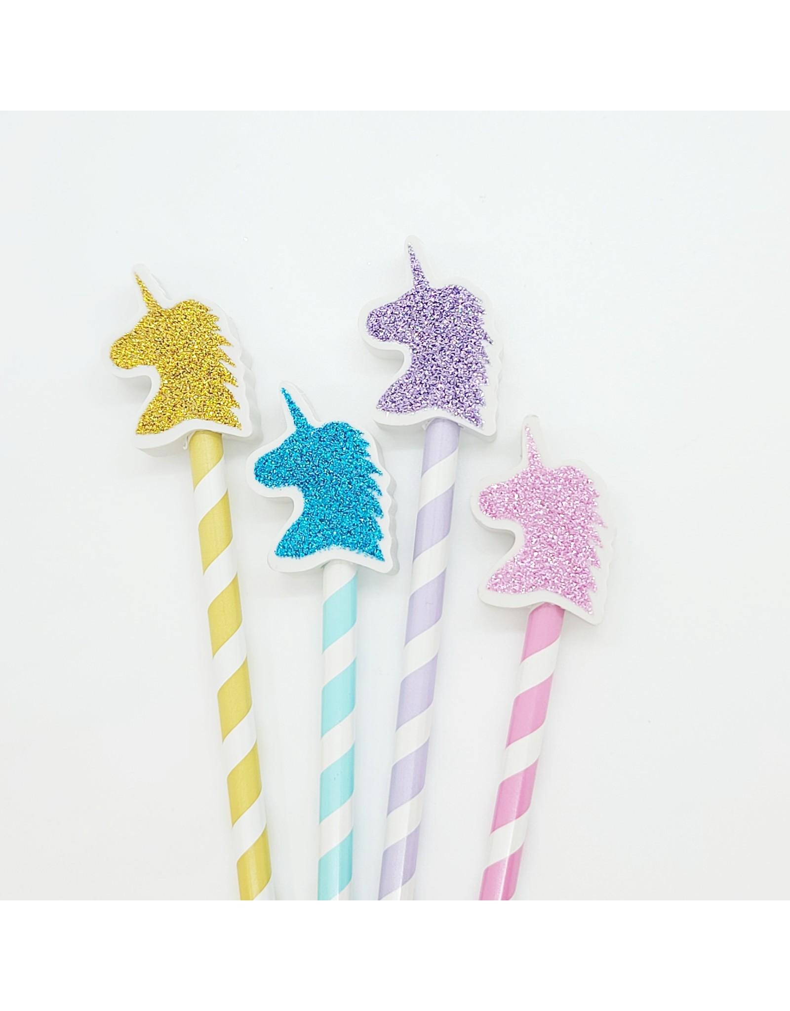 Crayon et efface licorne glitter