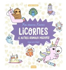Drawing Book Mes dessins kawaii : Licornes et autres animaux mignons