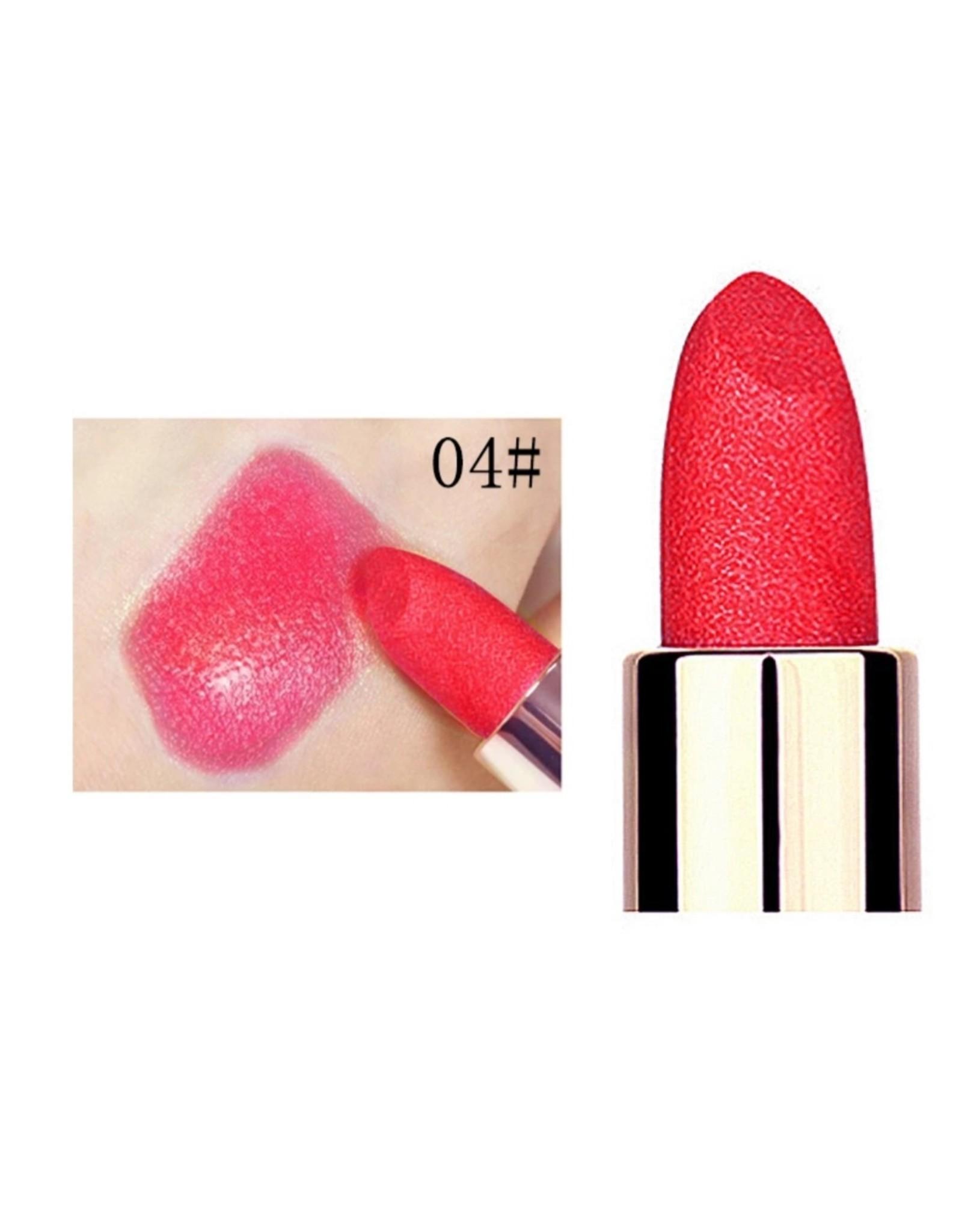 Shiny Red Lipstick
